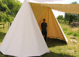 French Double Belled Wedge Tent